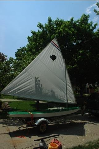 sunfish rigged