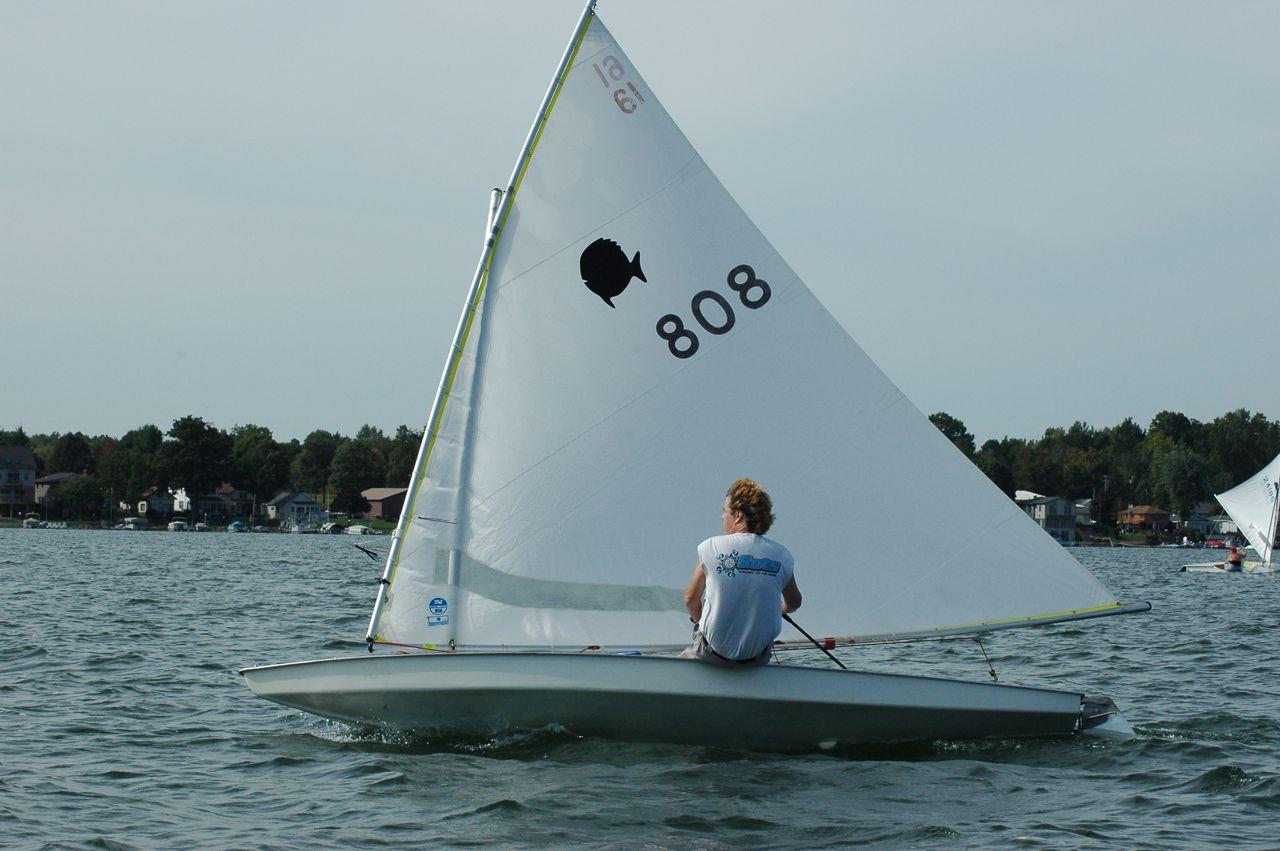 Sunfish Sailboat Racing