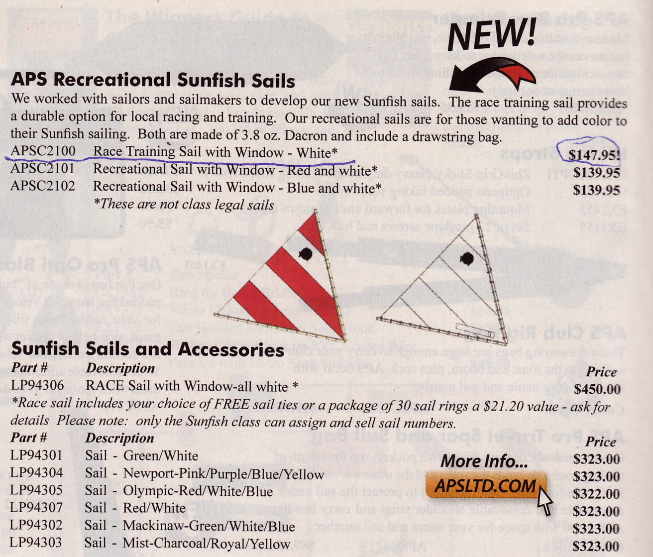Aps sunfish recreational sails misleading ad my2fish a blog my pooptronica