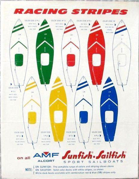 1970s sunfish racing stripes my2fish a blog about sunfish sailing
