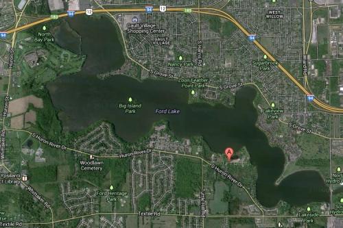 ford lake map