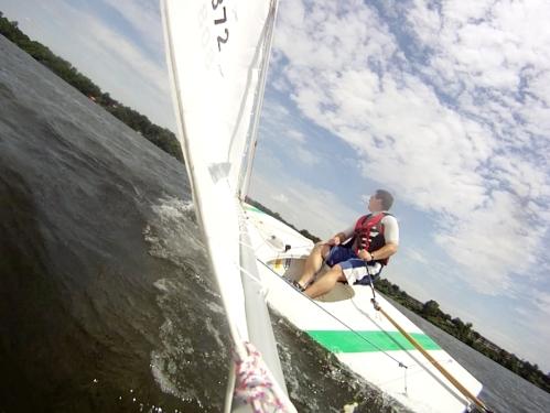 Ford Lake sunfish sailing
