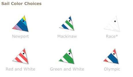 sunfish sail colors