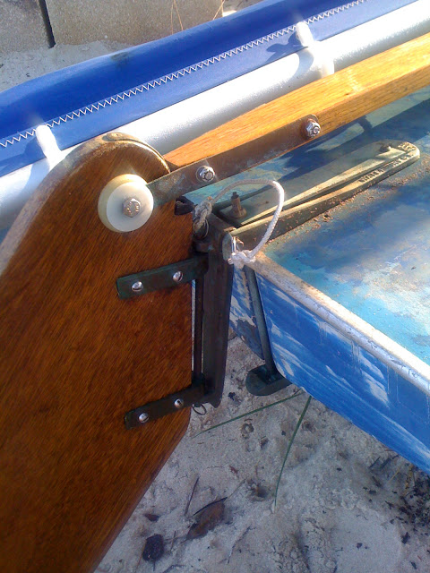 wood rudder rudder my2fish a blog about sunfish sailing
